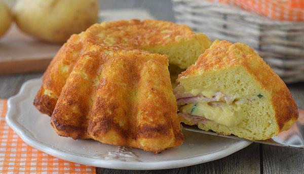 Cake farcie aux courgettes gruy re et jambon avec thermomix - Courgettes farcies thermomix ...