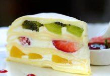 Gâteau crêpes et fruits