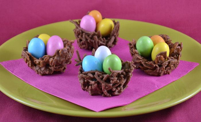 Nids au chocolat de p ques recette sp cial p ques - Recette nid de paques au moka ...