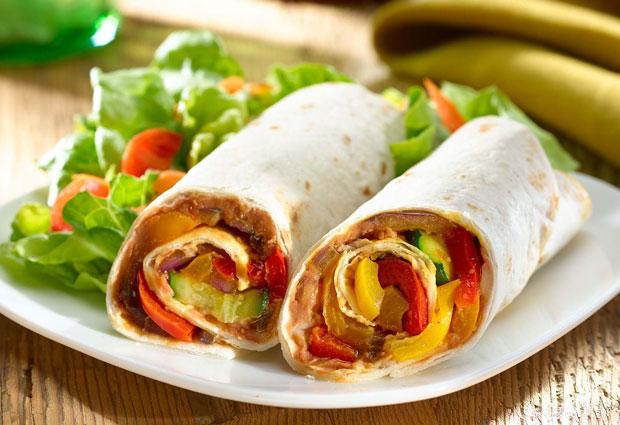 Wrap froid aux légumes Weight Watchers