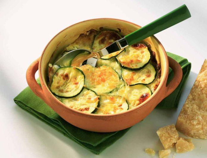Gratin de courgettes et saumon fum l ger plat et recette - Plat facile et leger ...