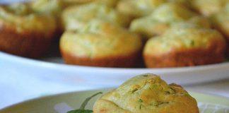 Muffins au chèvre frais et à la menthe au Thermomix