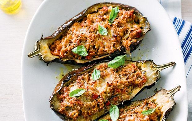 aubergines farcies à la viande hachée avec Thermomix