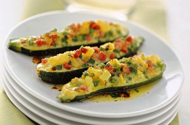 courgettes farcies aux petits légumes Weight Watchers