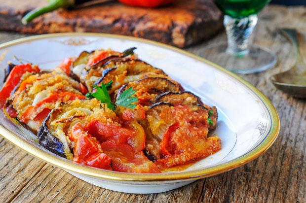 Gratin d 39 aubergines et tomates l ger recette l g re plat et recette - Plat facile et leger ...