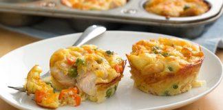 Muffins au Poulet et Légumes Weight Watchers