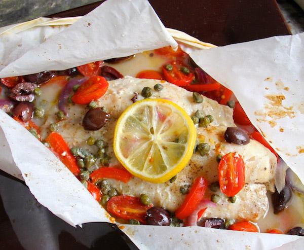 papillote de poisson à la méditerranéenne