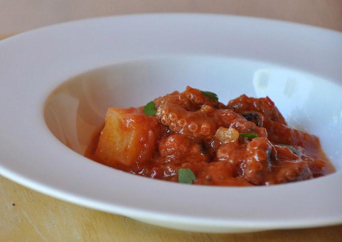 Ragoût de poulpe à la tomate avec Thermomix