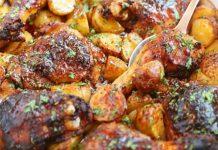 Poulet et pommes de terre au cidre avec Cookéo