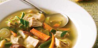 Soupe à la dinde et aux haricots blancs