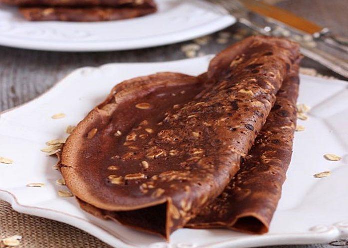 Crêpes au chocolat et son d'avoine Weight Watchers