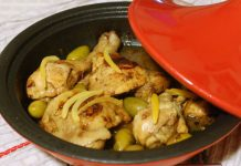 Cuisses de poulet au citron confit et olives vertes avec Thermomix