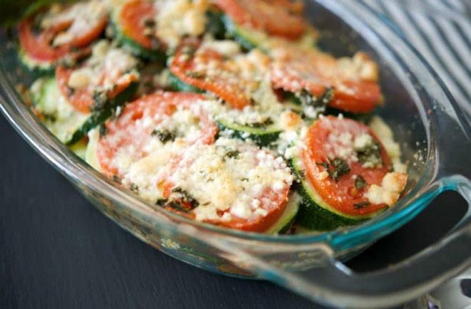 Gratin de courgettes et tomates l ger recettes l g res plat et recette - Plat facile et leger ...