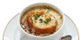 Soupe gratinée à l'oignon légère