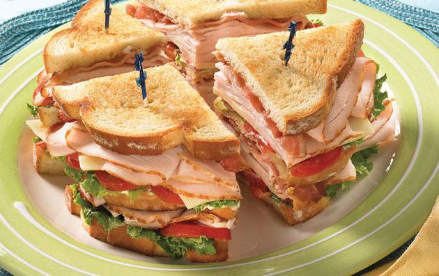 Club sandwich l ger recettes l g res plat et recette - Plat facile et leger ...