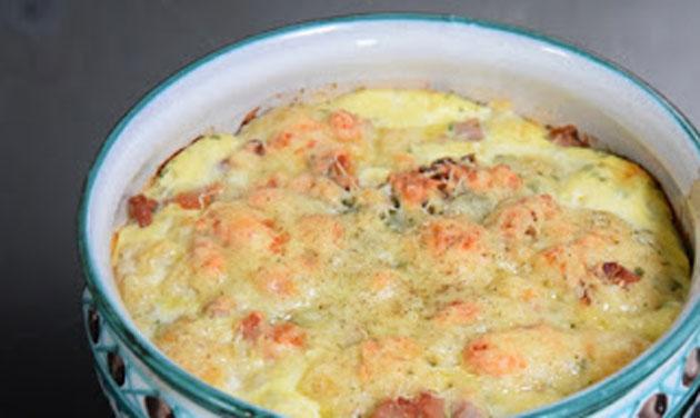 Clafoutis de chou fleur au jambon l ger recettes l g res plat et recette - Plat facile et leger ...