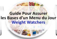 Guide pour assurer les bases d'un menu du jour Weight Watchers