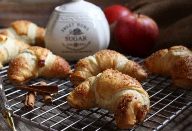 Croissants aux pommes et cannelle Thermomix