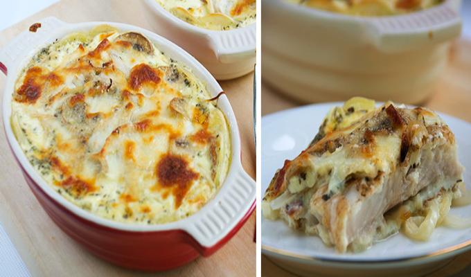 Gratin de poisson aux champignons l ger plat et recette - Plat facile et leger ...