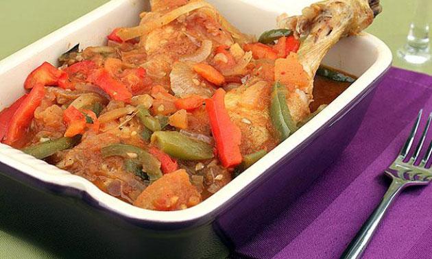 Poulet basquaise l ger recettes l g res plat et recette - Plat facile et leger ...