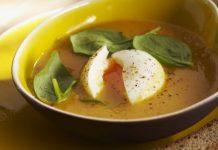 Soupe aux légumes aux oeufs mollets Weight Watchers