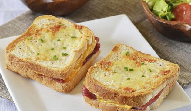 Croque monsieur au saumon l ger ww plat et recette - Recette croque monsieur au four original ...