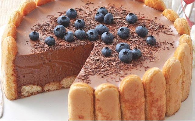 Charlotte au chocolat avec thermomix plat et recette - Recette charlotte au chocolat ...