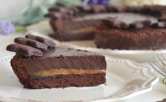 Tarte au chocolat et caramel au beurre sal avec thermomix - Beurre persille thermomix ...