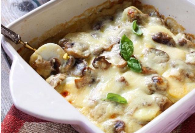 Gratin l ger d 39 oeufs durs aux champignons ww plat et recette - Plat facile et leger ...