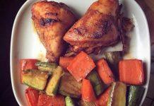 Poitrine de poulet et ses légumes WW