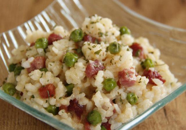 riz aux petits pois et au jambon WW