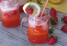 Limonade maison à la fraise au Thermomix