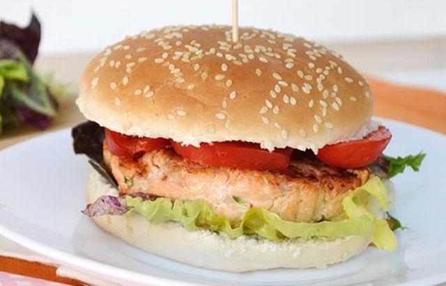 burger léger au saumon WW