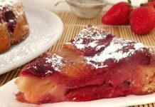moelleux léger aux pommes et aux fraises WW