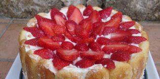 Charlotte aux fraises légère WW
