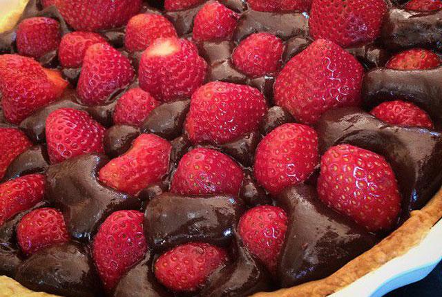 Tarte aux Fraises et Crème Pâtissière Chocolat au Thermomix