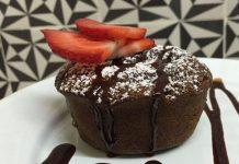 moelleux chocolat au cœur de fraises au Thermomix