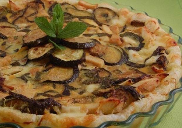 quiche aux courgettes, aubergines et Chorizo WW