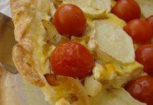 tarte aux tomates cerises et chèvre WW