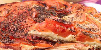 Tarte aux tomates emmental et moutarde WW