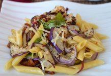 Salade de pâtes à l'aubergine