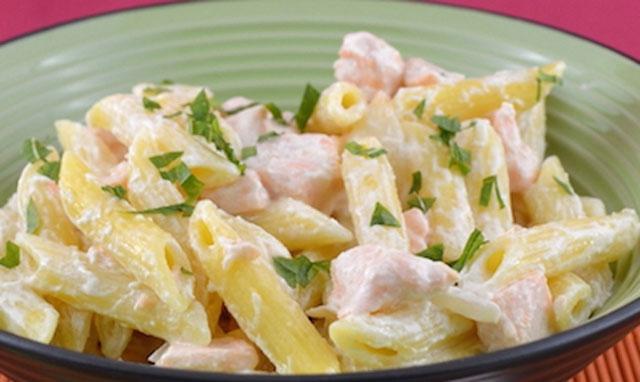 pâtes à la crème et au saumon frais WW