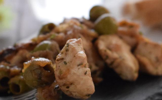 Ragoût de Poulet aux Olives Vertes WW