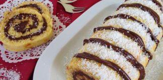 gâteau roulé au Nutella et noix de coco au Thermomix