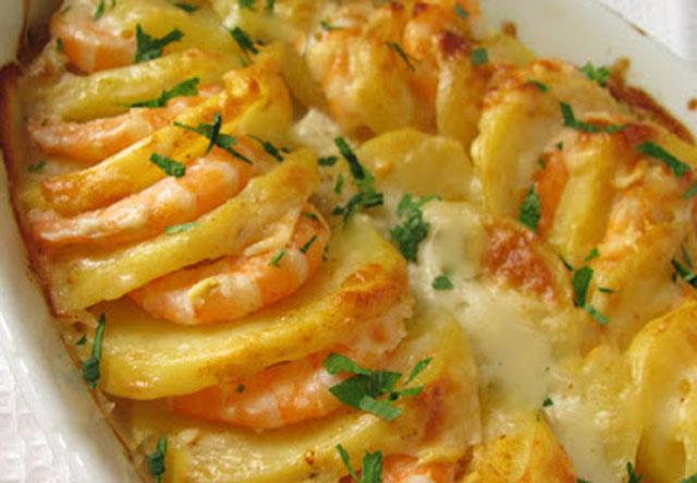 Gratin de Crevettes et Pommes de Terre