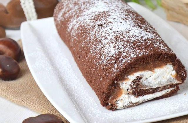 Gâteau Roulé à la Crème de Marrons au Thermomix