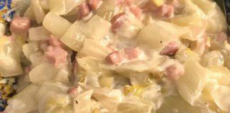 fondue d'endives aux lardons WW