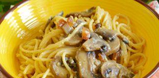 spaghettis carbonara aux champignons WW