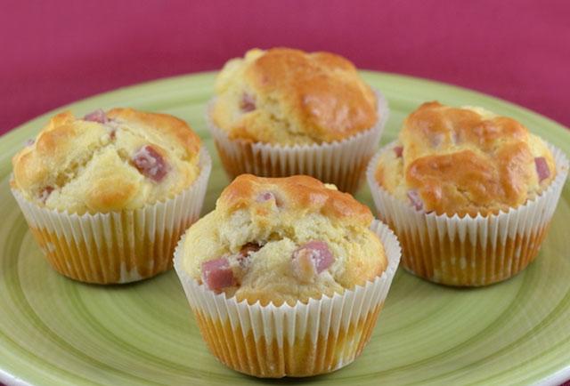 muffins au jambon et Kiri WW