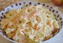 salade Coleslaw allégée au yaourt WW